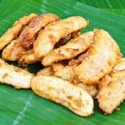 Fried Bananas with Lemon and Rum