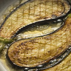 Fried Eggplant with Vinegar and Lemon