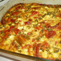 Oven Fried peppers with Eggs and Cheese