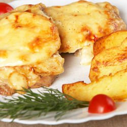 Oven-Baked Chicken and Cheese