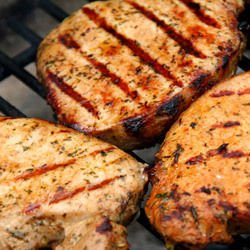 Grilled Steaks with Marinade