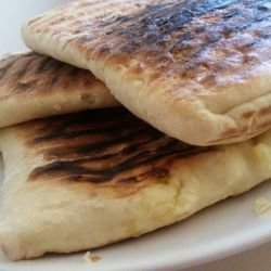 Juicy Flatbread on a Grill Pan