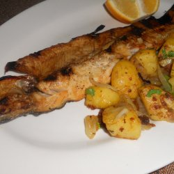 Charcoal-Cooked Trout with the Tastiest Garnish