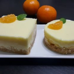 Desserts with Yoghurt and Mandarin Juice
