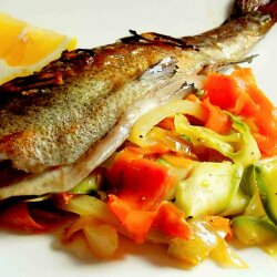 Oven-Baked Trout with Grilled Vegetables