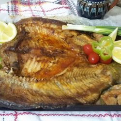 Oven-Baked Carp with Cherry Tomatoes