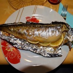 Baked Mackerel in Foil