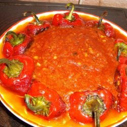 Roasted Peppers with a Garlic Tomato Sauce