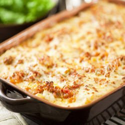 Minced Meat and Mushroom Bake