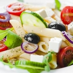Mediterranean Salad with Penne