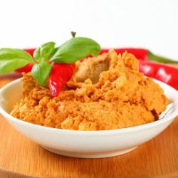 Spicy Puree of Peppers, Walnuts and Garlic