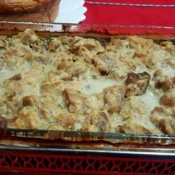Chicken Bits with Mushrooms and Processed Cheese