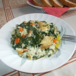 Chicken with Spinach and Rice in the Oven