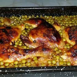 Chicken Stew with Peas and Lots of Spices