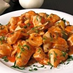 Chicken Casserole with Garnish