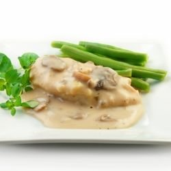 Chicken Steak in Cream Sauce and Mushrooms