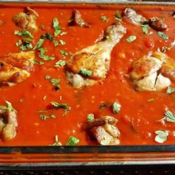 Pork and Chicken in Tomato Sauce