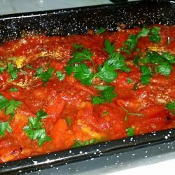 Lazy Peppers with Tomato Sauce