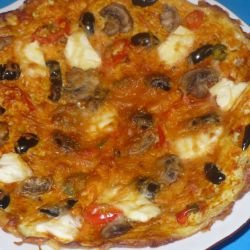 Vegetarian Omelette-Pizza