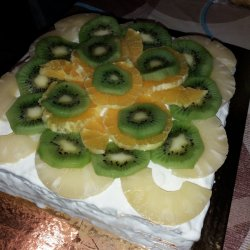 Fresh Fruit Cake with Strained Yoghurt