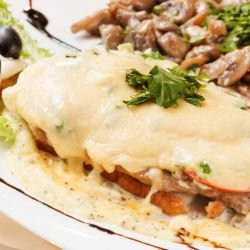 Steaks with Four Cheeses