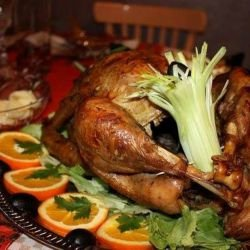 Baked Turkey with Oranges