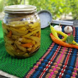 Spicy Toasty Banana Peppers