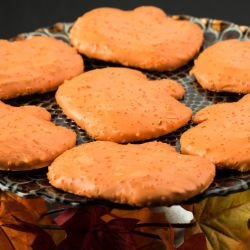Fancy Pumpkin Cookies