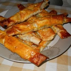 Dock and Feta Cheese Cigars