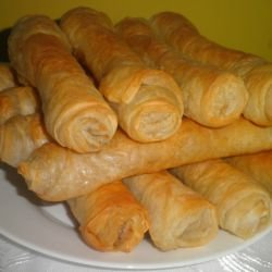 Phyllo Pastry Cigars with Leeks