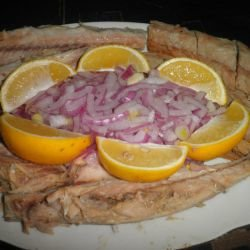Smoked Mackerel with Red Onions