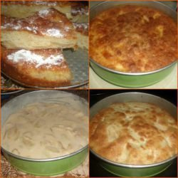 Fluffy Apple Cake with a Topping
