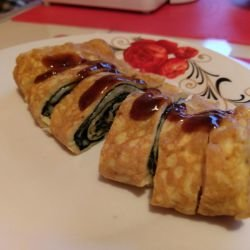 Japanese Omelette with Cheese - Tamagoyaki