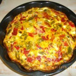 Quiche with Roasted Peppers and Feta Cheese