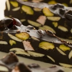Cold Chocolate Fudge with Nuts