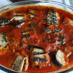 Oven-Baked Mackerel with Tomato Sauce