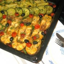 Oven-Baked Carp with Vegetables