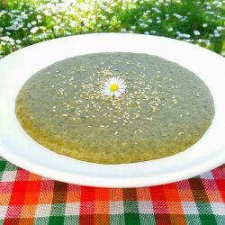 Lean Rice Porridge with Dock and Mint