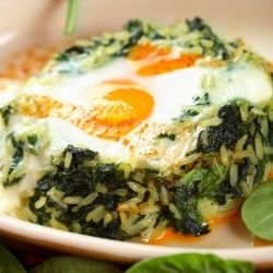 Oven-Made Spinach with Rice