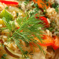 Pilaf with Bulgur and Roasted Vegetables