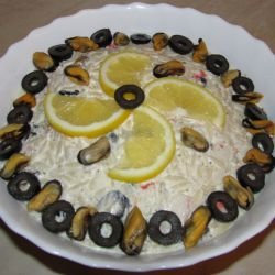 Seafood Salad with Orzo and Olives