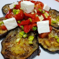 Salad with Eggplant, Tomatoes and Garlic