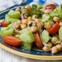 Indian Chana Chat Salad