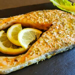 Baked Salmon Cutlets with Rosemary