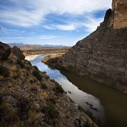 Medieval fortresses - Santa Elena Canyon in Big Bend National Park