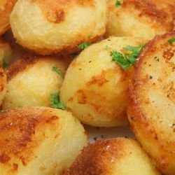 French-Style Baked Potatoes with Breadcrumbs