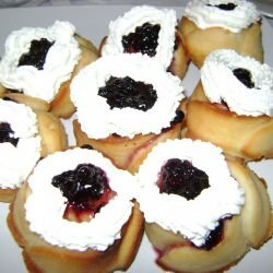 Savarin Cakes with Cream and Jam
