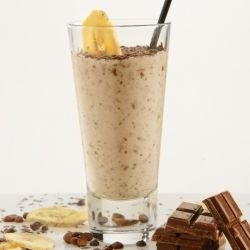 Chocolate Coffee and Banana Smoothie
