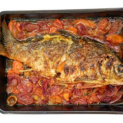 Carp Stuffed with Walnuts and Mushrooms