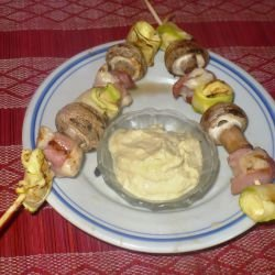 Chicken Skewers with Mozzarella